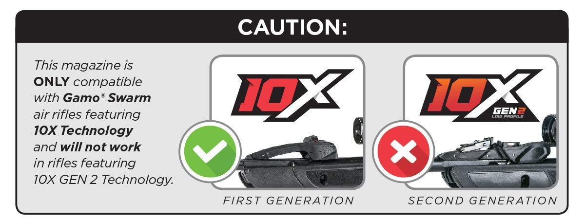 Gamo-Outdoors-22-Cal-10X-QUICK-SHOT-Magazine-for-Gamo-Swarm-Maxxim-10-shot thumbnail 2